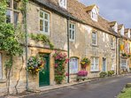 Pretty cottages in Stow-on-the-Wold