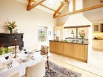 Chef's Kitchen - equipped with 4 oven Aga, electric oven, gas hob and massive cooking island