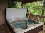 New Hot Tub on Deck