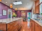 Ample counter space makes cooking in this kitchen a breeze!
