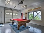 Pool tournaments are a must in this well-appointed space.