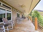 Abundant outdoor furnishings ensure everyone has a spot on the deck.