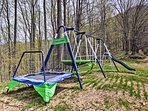 Kids will have a blast on the swing set.