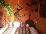 La fresque murale du la case du Ghana