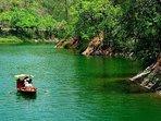Boating in the Sattal Lake