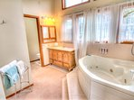 Beautiful Master bath with Jacuzzi.