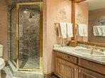 Jr. master en-suite bath with walk-in shower.