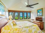 Upstairs Ocean-View Bedroom with Queen Bed