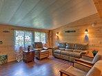 Unwind on the comfortable living room furniture.