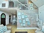 Stairway to the Loft Guest Bedroom