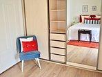 Practical built in spacious wardrobe in Master bedroom.