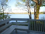 Spacious deck with stunning views, perfect for family barbecues