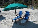 Complimentary Beach Umbrella and Chair Rental (in season)