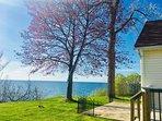 Beautiful waterfront Lake Ontario house near Niagara Falls, NY USA on Wine Trail of Wilson, NY 14172