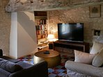 Upstairs sitting room with UK terrestrial and satellite TV