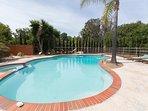 Large oversized pool.