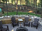 Outdoor Area with Firepit