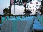Sunset wedding party