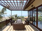 Upstairs villa with views of sea and river