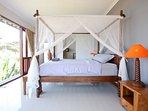 Master bedroom has sea view