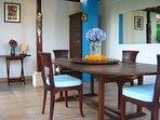 Villa Shantitara dining room