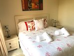 Beautiful kingsize bedroom and ensuite.
