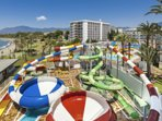 Walking distance from the beachfront aqua park. Day passes available for an all inclusive experience