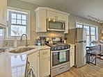 Prepare meals with use of stainless steel appliances.