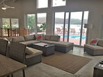 Your view from the kitchen looking out to the pool deck and beyond! (2018 photo)