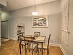 Share a meal at the formal dining table.