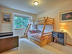 Kids will love sleeping in the twin-over-full bunk bed!