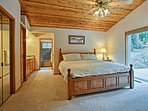 Anyone will feel spoiled in the master suite.