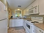 Ample appliances and counter space make you feel right at home.