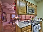 The chef in your group can cook 5-star meals in the fully equipped kitchen.