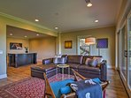 Contemporary decor and warm colors create an inviting ambiance.