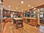 Gourmet Kitchen with SubZero Refrigerator, Wolf Stove, Granite Counters