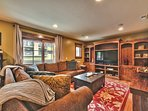 Lower Level Family Room with 6-Seat Gaming Table, Large TV with Surround Sound, DVD