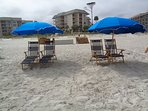Chairs on beach!