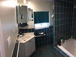 Washroom showing vanity