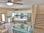 Huge Kitchen with tons of space! Open concept design in living area!