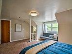 This spacious room comfortably sleeps 3.
