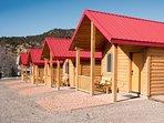 Newly built Cabins!  With 2 Queen Beds in each Cabin.  Cozy and Comfortable!
