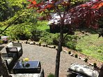 Lounge under the maple trees with family and friends