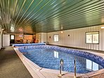 Inside you'll find an awesome indoor pool the kids will love!