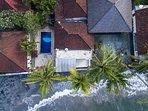 Aerial view of Villa Sea Spray Bali