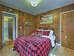 Each of the bedrooms are professionally furnished with lodge decor.