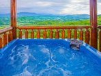 After a long day of enjoying the sites and sounds of the Smokies, the hot tub is a great way to wind down.