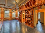 Even the flooring is custom made for this condo!