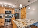 Dine at the 2-person breakfast bar!