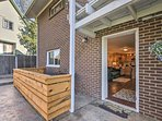 Enjoy your own private patio that overlooks the backyard!